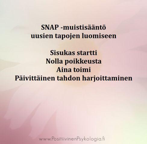 Emilia Lahti positiivinen psykologia SNAP