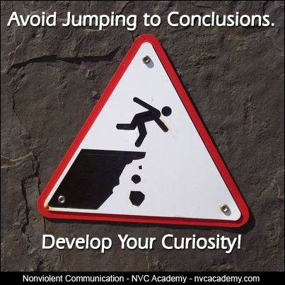 Curiosity and jumping into conclusions