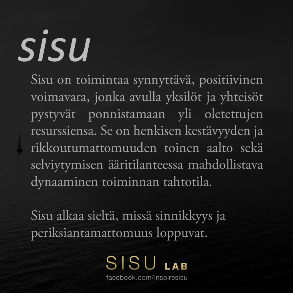 sisu definition in Finnish sisu lab quotes